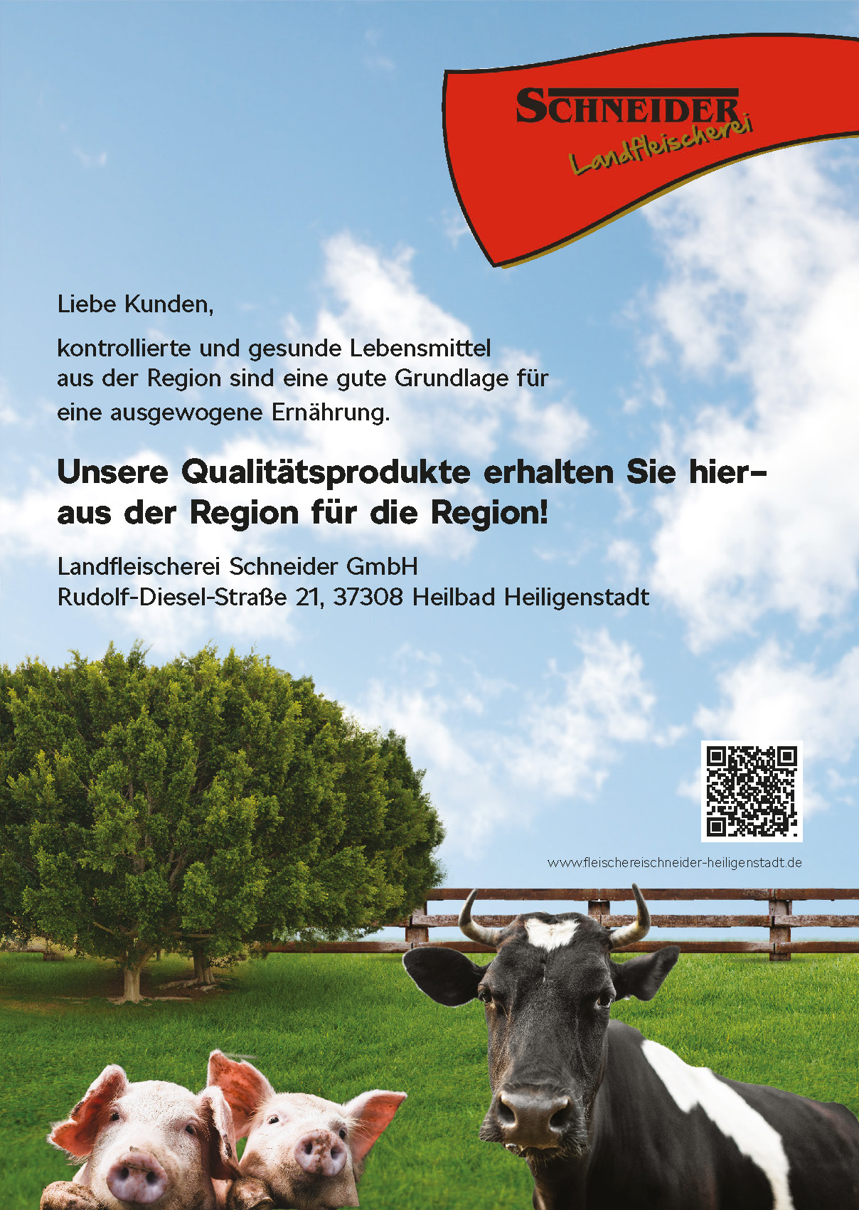 Landfleischerei Schneider, Qualitätsprodukte aus der Region für die Region